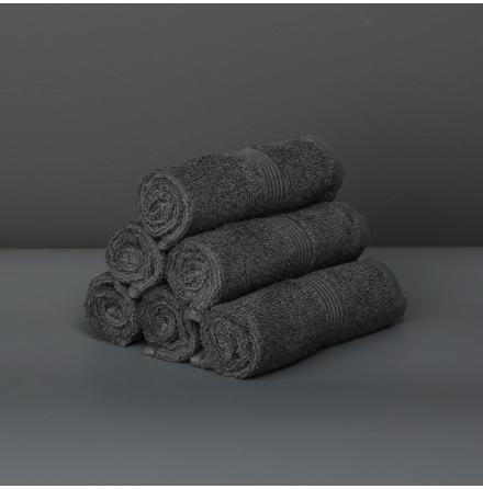 Ezra tvättlapp granitgrå (4-pack)