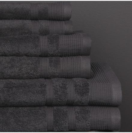 Ezra handduk granitgrå - Exklusiv & ljuvlig