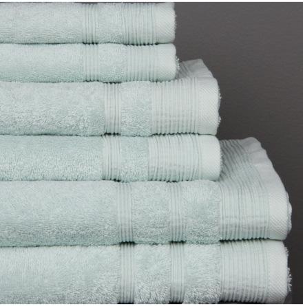 Ezra handduk lindblomsgrön - Exklusiv och ljuvlig