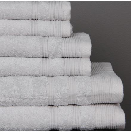 Ezra handduk silvergrå - Exklusiv & ljuvlig