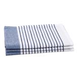 Stripe kökshandduk - blå (2-pack)