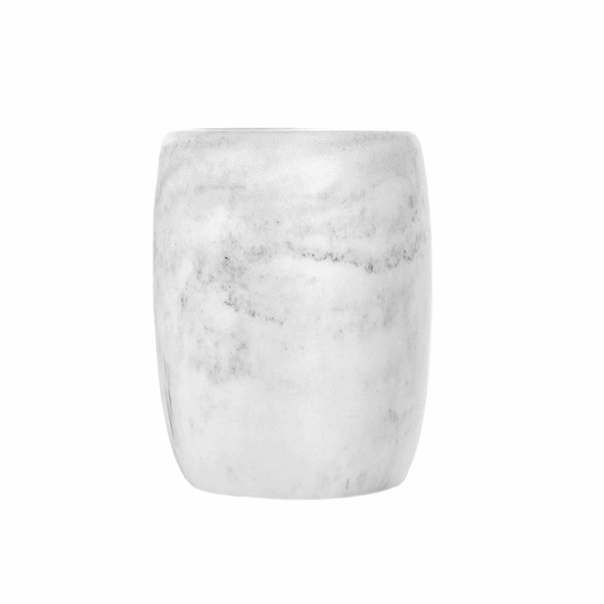 Rock tandborstmugg - vit/grå