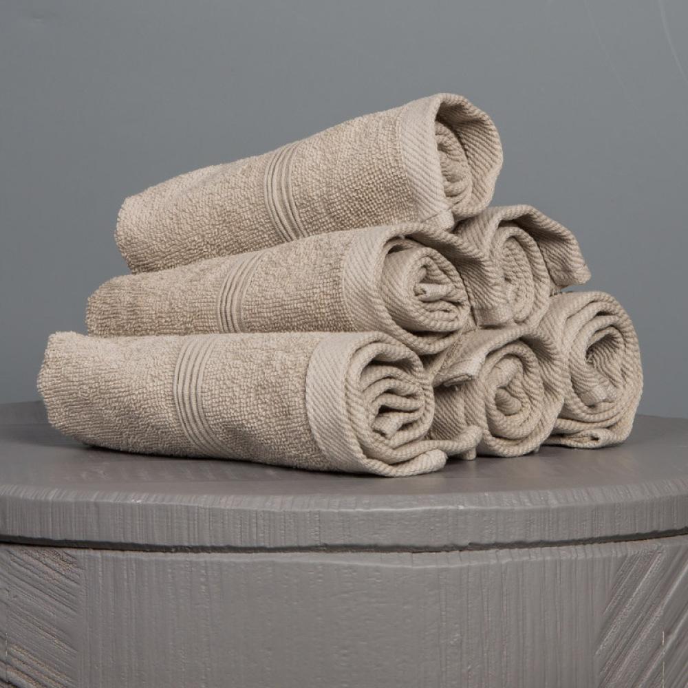 Ezra tvättlapp beige (4-pack)