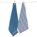 Square kökshandduk - blå (2-pack)