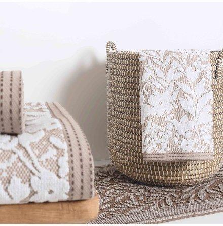 Matiss handduk - beige/vit