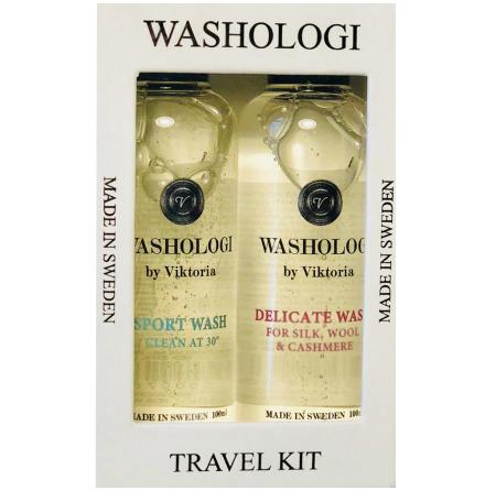 Tvättmedel Resekit 2-pack, Sport & Fintvätt - Washologi
