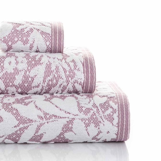 Matiss handduk - syren/vit