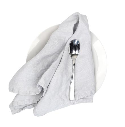 2-pack linneservetter - Duvgrå