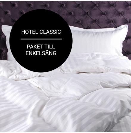 """Paket """"Hotel Classic"""" för enkelsäng (lakan, påslakan, örngott)"""