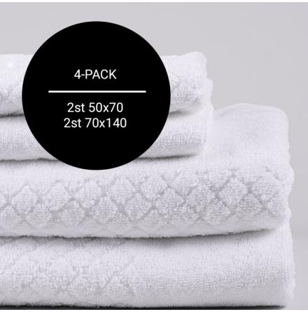 Modesty handdukspaket vit (2st 50x70 + 2st 70x140)